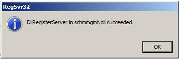 การเปิดใช้งาน Active Directory Schema