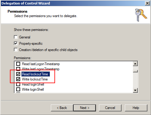 การ Delegate Reset Password / Unlock User Account